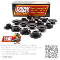 "CROW CAMS PERFORMANCE CHROMOLY VALVE SPRING RETAINERS +0.100"" & O/S [HOLDEN V8 RED/BLUE/BLACK/INJECTED MOTOR]"