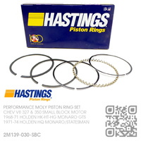"HASTINGS +0.030"" OVERSIZE PERFORMANCE MOLY PISTON RING SET [CHEV V8 327 & 350 SMALL BLOCK MOTOR]"