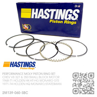 "HASTINGS +0.060"" OVERSIZE PERFORMANCE MOLY PISTON RING SET [CHEV V8 327 & 350 SMALL BLOCK MOTOR]"