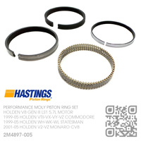 "HASTINGS LS1+0.005"" PERFORMANCE  MOLY PISTON RING SET [HOLDEN V8 GEN III LS1 5.7L MOTOR]"