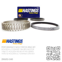 "HASTINGS 186+0.040"" PERFORMANCE MOLY RING SET [HOLDEN 6-CYL 186 RED MOTOR]"