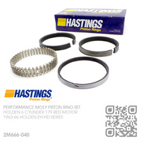 "HASTINGS 179+0.040"" PERFORMANCE MOLY RING SET [HOLDEN 6-CYL 179 RED MOTOR]"
