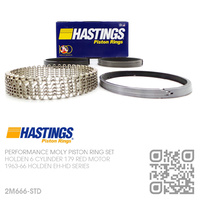 HASTINGS 179 STD PERFORMANCE MOLY RING SET [HOLDEN 6-CYL 179 RED MOTOR]