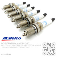 ACDELCO DOUBLE PLATINUM SPARK PLUG SET [HOLDEN 6-CYL RB30E & RB30ET TURBO 3.0L MOTOR]