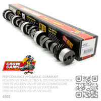 CROW CAMS 4502 PERFORMANCE BILLET HYDRAULIC CAMSHAFT [HOLDEN V8 304 INJECTED 5.0L & 355 STROKER 5.7L MOTOR]