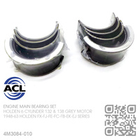 "ACL ENGINE MAIN BEARING SET -0.010"" UNDERSIZE [HOLDEN 6-CYL 132 & 138 GREY MOTOR]"