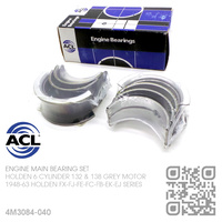 "ACL ENGINE MAIN BEARING SET -0.040"" UNDERSIZE [HOLDEN 6-CYL 132 & 138 GREY MOTOR]"