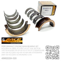 "ACL RACE SERIES PERFORMANCE MAIN BEARING SET -0.020"" UNDERSIZE [HOLDEN V6 3800, ECOTEC & SUPERCHARGED 3.8L MOTOR]"