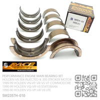 "ACL RACE SERIES PERFORMANCE MAIN BEARING SET -0.010"" UNDERSIZE [HOLDEN V8 304 INJECTED 5.0L & 355 STROKER 5.7L MOTOR]"
