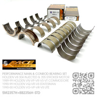 ACL RACE SERIES PERFORMANCE MAIN & CONROD BEARING SET STANDARD SIZE [HOLDEN V8 304 INJECTED 5.0L & 355 STROKER 5.7L MOTOR]