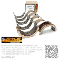 ACL RACE SERIES PERFORMANCE MAIN BEARING SET STANDARD SIZE [HOLDEN V8 304 INJECTED 5.0L & 355 STROKER 5.7L MOTOR]