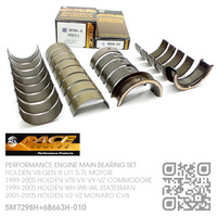 "ACL RACE SERIES PERFORMANCE MAIN & CONROD BEARING SET -0.010"" UNDERSIZE [HOLDEN V8 GEN III LS1 5.7L MOTOR]"