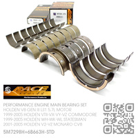 ACL RACE SERIES PERFORMANCE MAIN & CONROD BEARING SET STANDARD SIZE [HOLDEN V8 GEN III LS1 5.7L MOTOR]