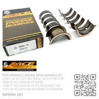 "ACL RACE SERIES PERFORMANCE MAIN BEARING SET -0.001"" UNDERSIZE [CHEV V8 307-327-350 SMALL BLOCK MOTOR]"