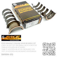 ACL RACE SERIES PERFORMANCE MAIN BEARING SET STANDARD SIZE [CHEV V8 307-327-350 SMALL BLOCK MOTOR]