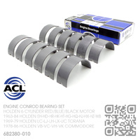 "ACL DURAGLIDE CONROD BEARINGS SET -0.010"" UNDERSIZE [HOLDEN 6-CYL RED/BLUE/BLACK MOTOR]"