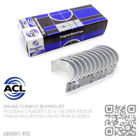 ACL DURAGLIDE CONROD BEARINGS SET STANDARD SIZE [HOLDEN 6-CYL 132 & 138 GREY MOTOR]