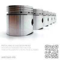 "NASON 3.125"" PERFORMANCE FLAT TOP PISTONS & HASTINGS RINGS [HOLDEN 6-CYL 132 & 138 GREY MOTOR]"