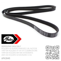 GATES MICRO-V SERPENTINE DRIVE BELT [HOLDEN V6 SUPERCHARGED 3.8L MOTOR]