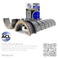 "ACL DURAGLIDE MAIN BEARINGS SET -0.010"" UNDERSIZE [HOLDEN 6-CYL 138-149-161-173-179-186 RED MOTOR]"