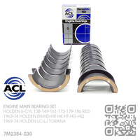 "ACL DURAGLIDE MAIN BEARINGS SET -0.030"" UNDERSIZE [HOLDEN 6-CYL 138-149-161-173-179-186 RED MOTOR]"