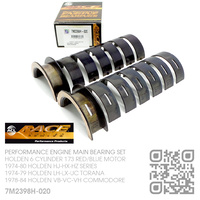 "ACL RACE SERIES PERFORMANCE MAIN BEARINGS SET -0.020"" UNDERSIZE [HOLDEN 6-CYL 173 RED/BLUE MOTOR]"
