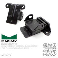 MACKAY RUBBER ENGINE MOUNT SET [CHEV V8 307-327-350 SMALL BLOCK MOTOR]