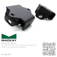 MACKAY RUBBER ENGINE MOUNT SET [HOLDEN V8 253 & 308 RED MOTOR]