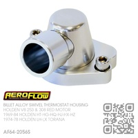 AEROFLOW BILLET ALLOY SWIVEL THERMOSTAT HOUSING [HOLDEN V8 253 4.2L & 308 5.0L RED MOTOR]