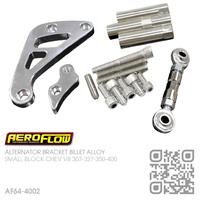 AEROFLOW BILLET ALLOY ALTERNATOR BRACKET RHS MID MOUNT [CHEV V8 307-327-350-400 SMALL BLOCK MOTOR]