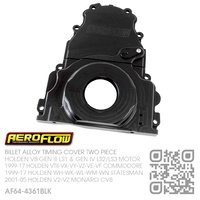 AEROFLOW BILLET ALLOY TIMING COVER TWO PIECE [HOLDEN V8 GEN III LS1 5.7L, GEN IV LS2 6.0L & LS3 6.2L MOTOR]