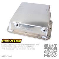 "AEROFLOW FABRICATED ALLOY  3"" DEEP TRANSMISSION PAN [GM POWERGLIDE AUTOMATIC]"