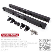 RACEWORKS PERFORMANCE BILLET ALLOY EFI FUEL RAIL KIT [HOLDEN V8 GEN III LS1 5.7L MOTOR]