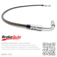 BRAKEQUIP BRAIDED STAINLESS HYDRAULIC CLUTCH HOSE [FE-FC-FB-EK-EJ-EH-HD-HR][4 or 5 SPEED CONVERSION][CARBON FIBRE]