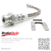 BRAKEQUIP BRAIDED STAINLESS STEEL HYDRAULIC BRAKE HOSE REAR [HT][CHASSIS to AXLE]