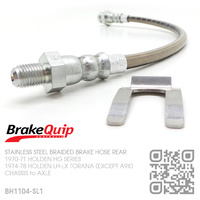 BRAKEQUIP BRAIDED STAINLESS STEEL HYDRAULIC BRAKE HOSE REAR [HG][CHASSIS to AXLE]