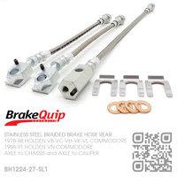 BRAKEQUIP BRAIDED STAINLESS STEEL HYDRAULIC BRAKE HOSE REAR DISC KIT [VB-VN]