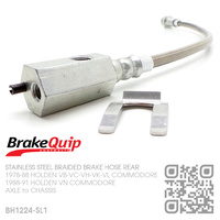 BRAKEQUIP BRAIDED STAINLESS STEEL HYDRAULIC BRAKE HOSE REAR [VB-VN][CHASSIS to AXLE]