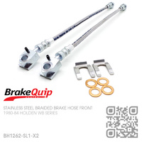 BRAKEQUIP BRAIDED STAINLESS STEEL HYDRAULIC BRAKE HOSE FRONT KIT [WB]