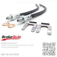 BRAKEQUIP RUBBER HYDRAULIC BRAKE HOSE FRONT KIT [HD-HG][DRUM]