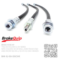 BRAKEQUIP RUBBER HYDRAULIC BRAKE HOSE KIT [EJ-EH][HD-HG CALIPERS]