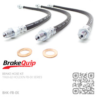 BRAKEQUIP RUBBER HYDRAULIC BRAKE HOSE KIT [FB-EK]