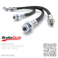 BRAKEQUIP RUBBER HYDRAULIC BRAKE HOSE KIT [HG][DISC]