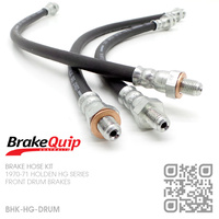 BRAKEQUIP RUBBER HYDRAULIC BRAKE HOSE KIT [HG][DRUM]