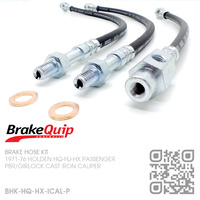 BRAKEQUIP RUBBER HYDRAULIC BRAKE HOSE KIT [HQ-HX PASSENGER][IRON CALIPER]