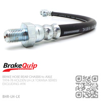 BRAKEQUIP RUBBER HYDRAULIC BRAKE HOSE FRONT REAR [LH-LX TORANA][CHASSIS to AXLE]