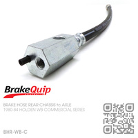 BRAKEQUIP RUBBER HYDRAULIC BRAKE HOSE KIT [WB COMMERCIAL][CHASSIS to AXLE]
