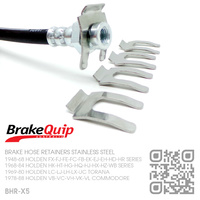 BRAKEQUIP BRAKE HOSE RETAINER CLIPS STAINLESS STEEL [SET OF 5]