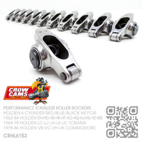 "CROW CAMS PERFORMANCE 1.5 RATIO STAINLESS 3/8"" ROLLER ROCKERS [HOLDEN 6-CYL RED/BLUE/BLACK MOTOR]"