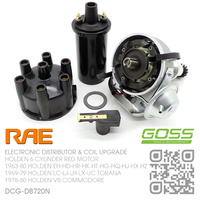 RAE ELECTRONIC DISTRIBUTOR & GOSS COIL [HOLDEN 6-CYL RED MOTOR]